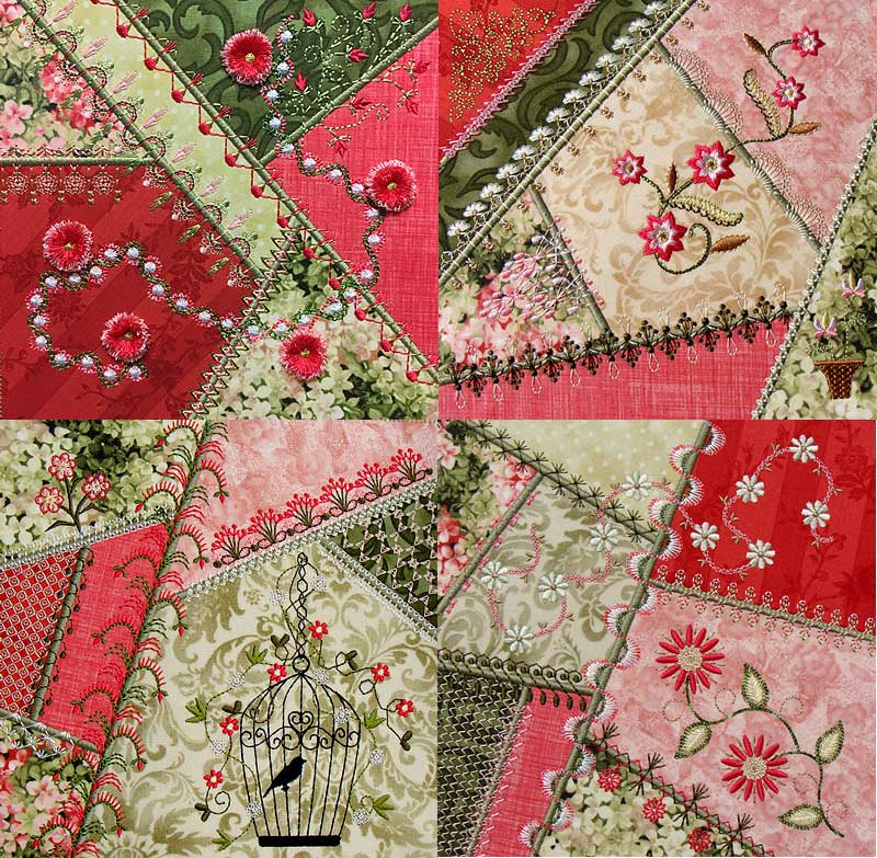Crazy Quilt Series 4 Pt 2 | Molly Mine : crazy quilt pictures - Adamdwight.com