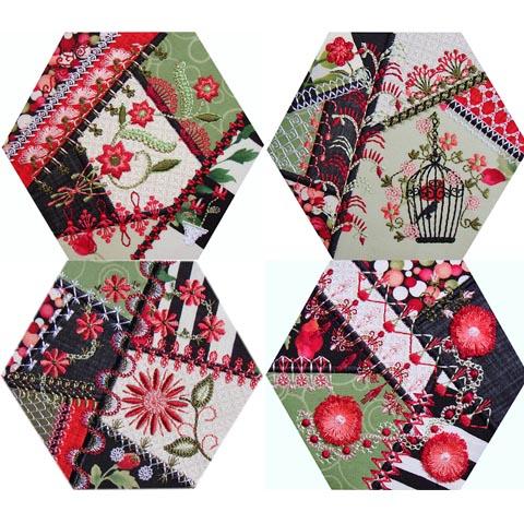 Crazy Quilt Series 4 Part 2 Hexagons