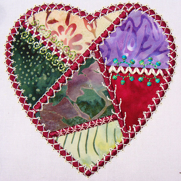 Crazy Hearts Embroidery Designs