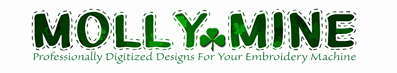Professionally digitized embroidery machine designs